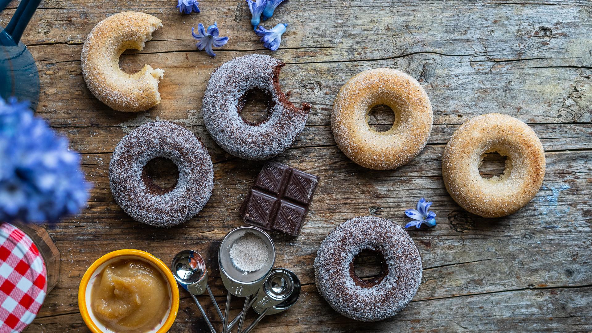 Gesunde Apfel Dinkel Donuts vegan Mrs Flury