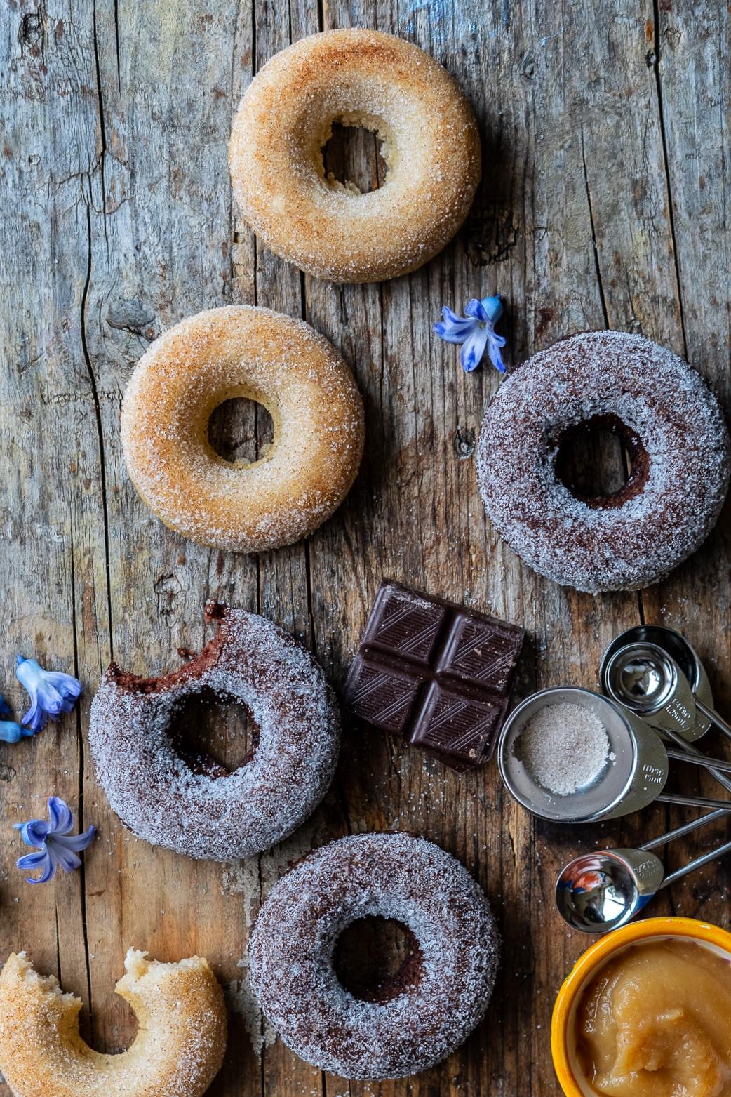 Gesunde Donuts Rezept vegan Mrs Flury