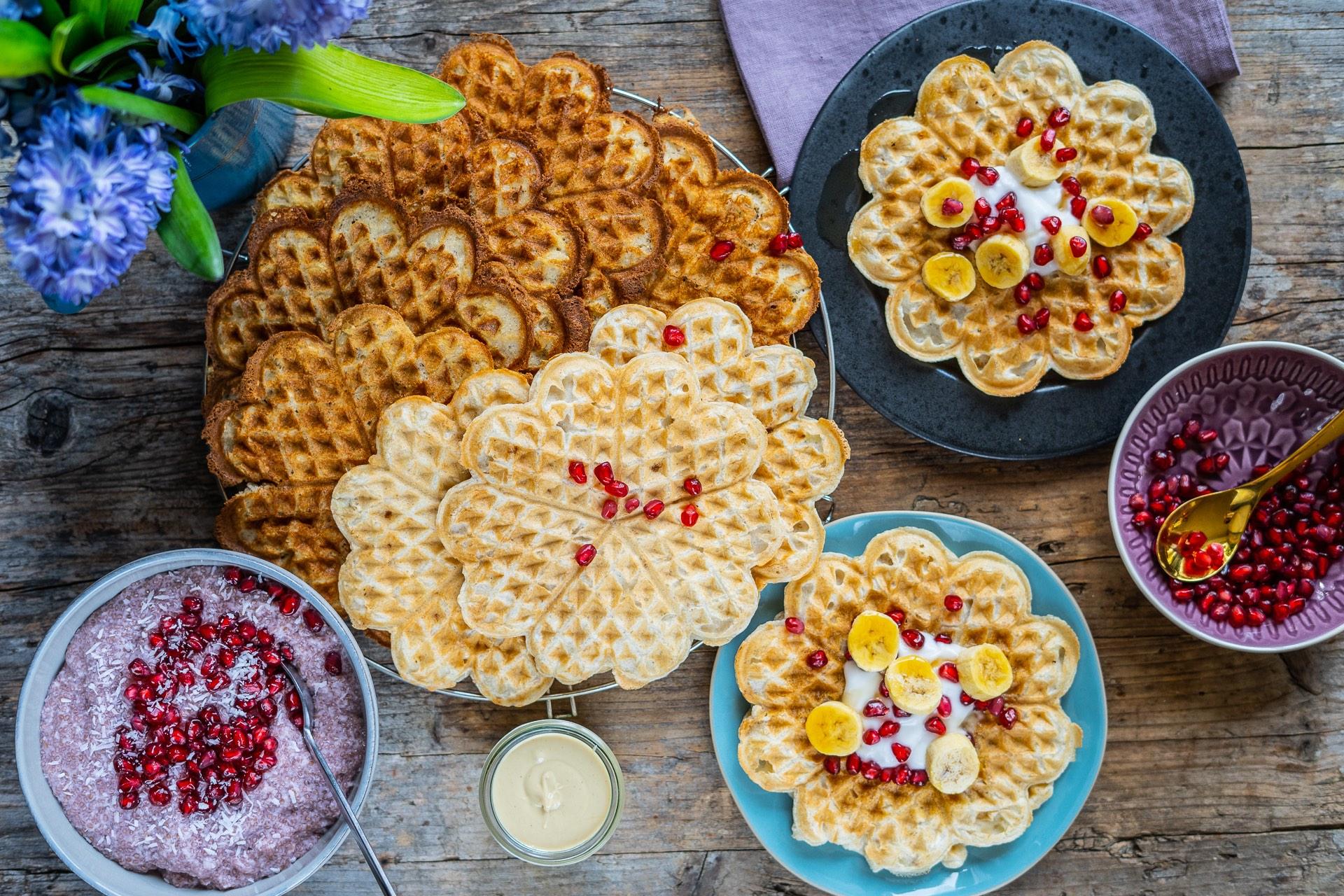 Gesunde Dinkel Bananen Waffeln für Kinder ohne Zucker