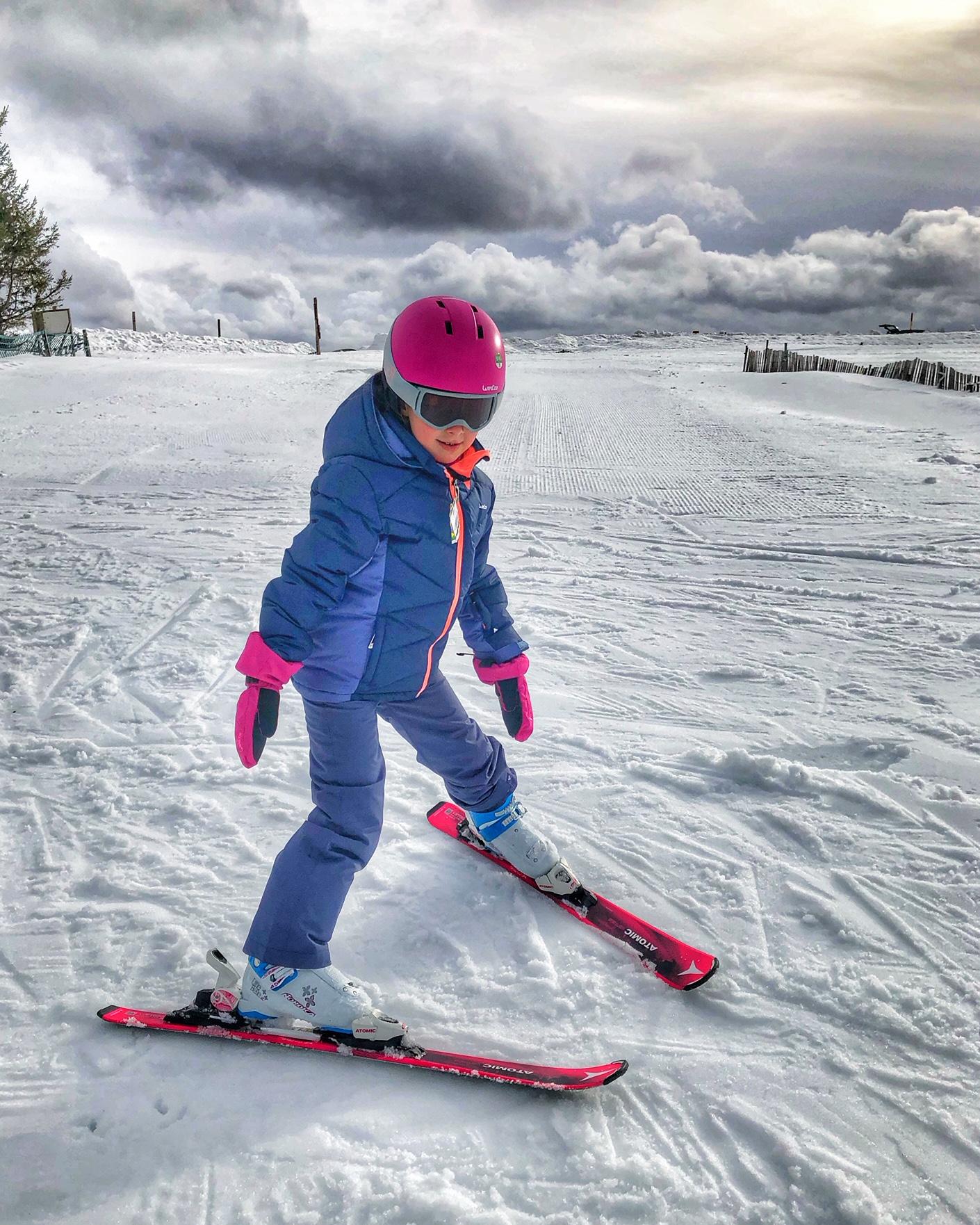 Kinder Skifahren Mrs Flury