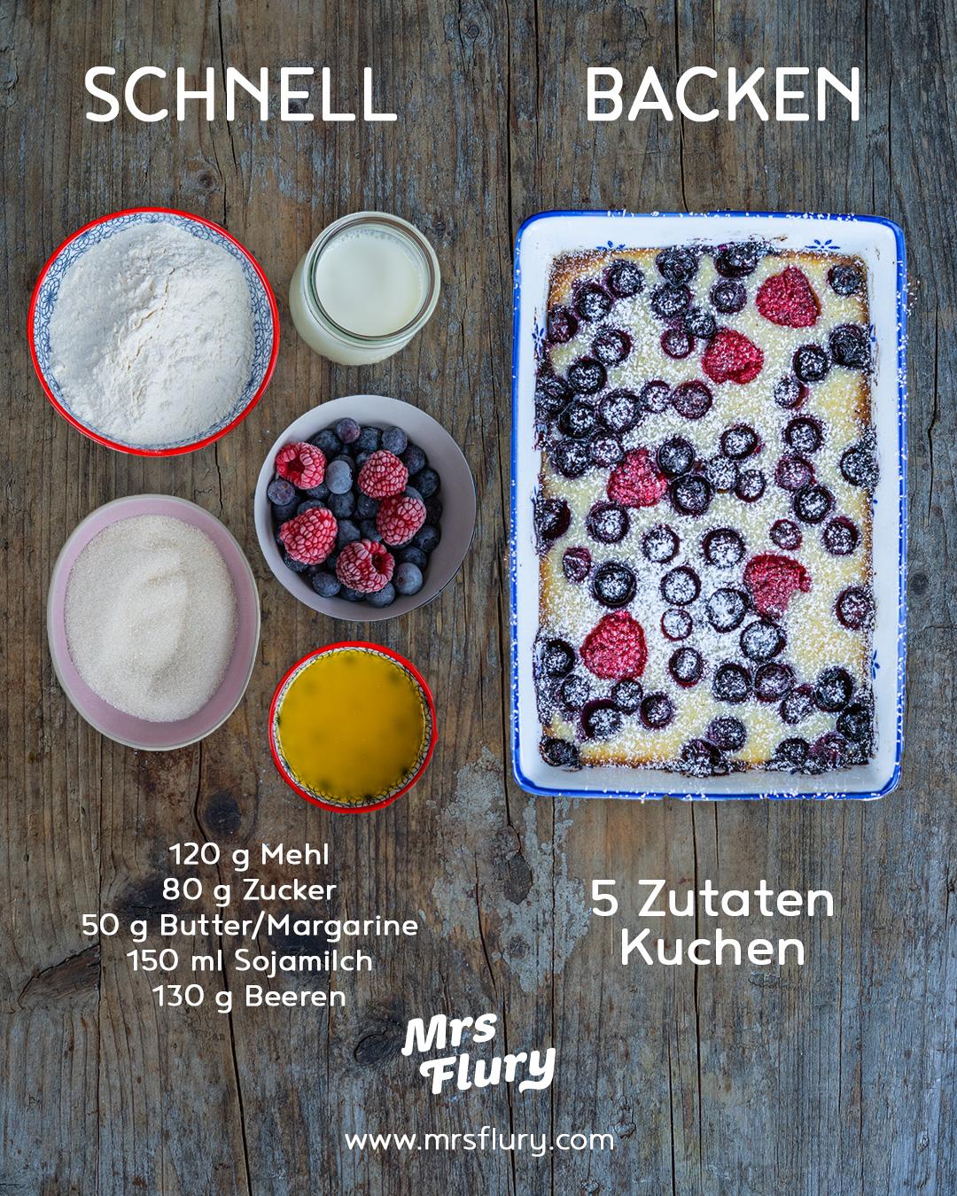 5 Zutaten Kuchen vegan Mrs Flury