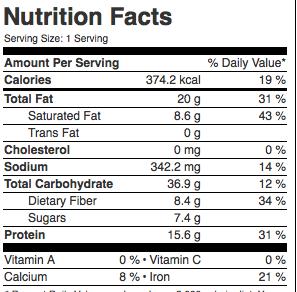 Nährwerte Schoko Protein Creme vegan Mrs Flury