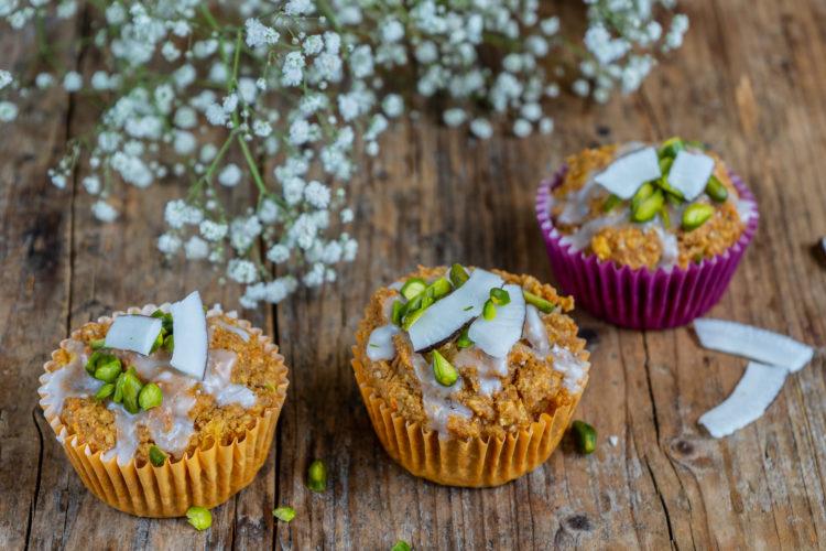 Saftige Rüebli Kokos Muffins vegan