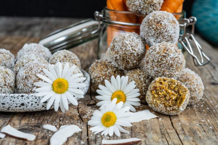 Power Protein Bliss Balls ohne Nüsse / histaminarm