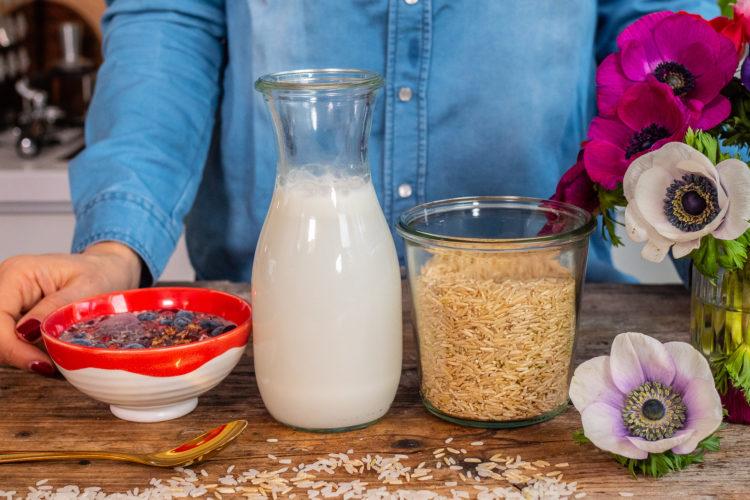 Reismilch selber machen / 2 Varianten pflanzliche Milchalternative