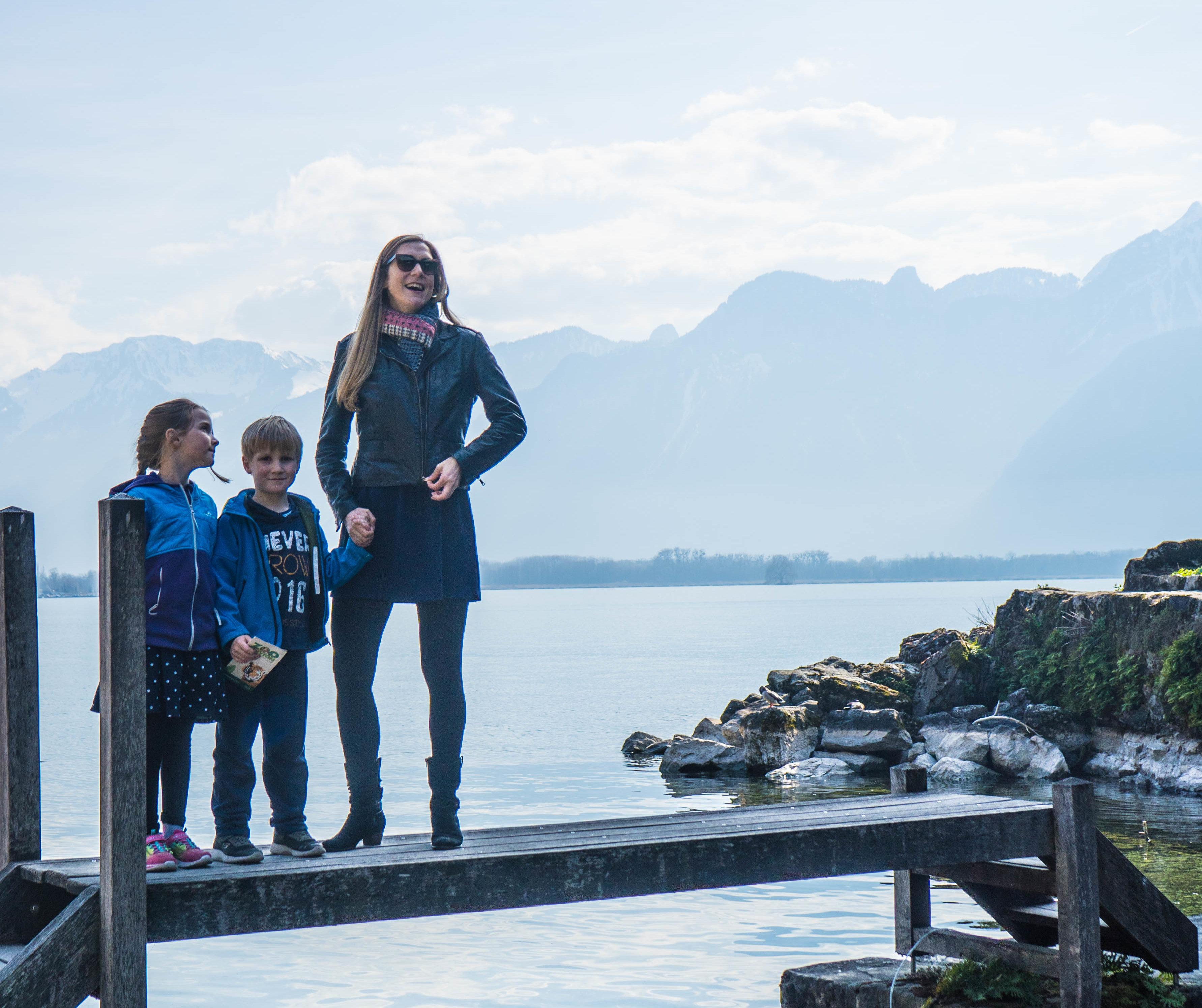 Familienausflug in die Westschweiz -Schloss Chillion Mrs Flury