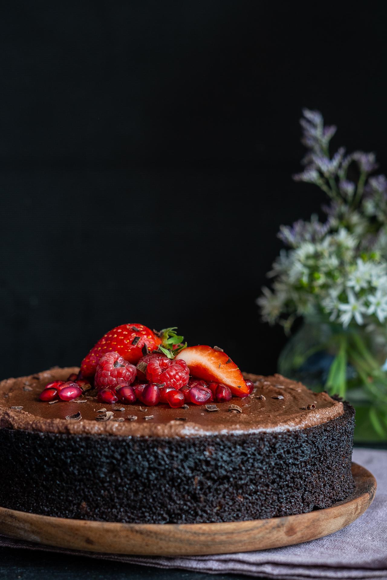 Schneller Schokoladenkuchen vegan - ohne Mixer, 1-Schüssel Mrs Flury