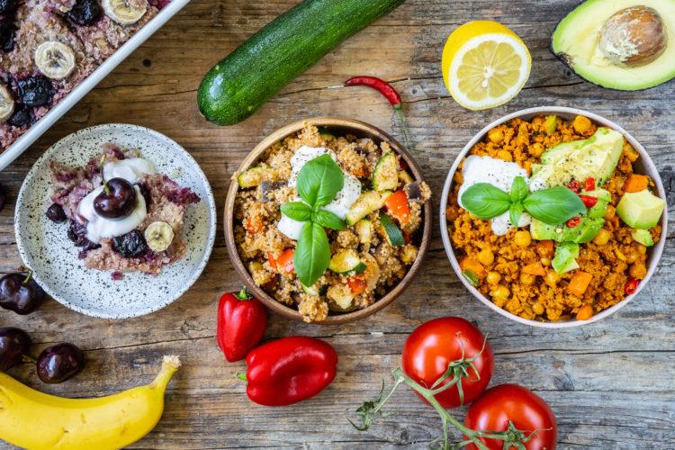 Ernährungsplan für 1 Tag – Gesundes Meal Prep vegan