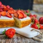 Gesunder Erdbeer Bananen Kuchen ohne weissen Zucker Mrs Flury