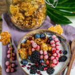 Gebackenes Quinoa Granola ohne Nüsse, ölfrei Mrs Flury
