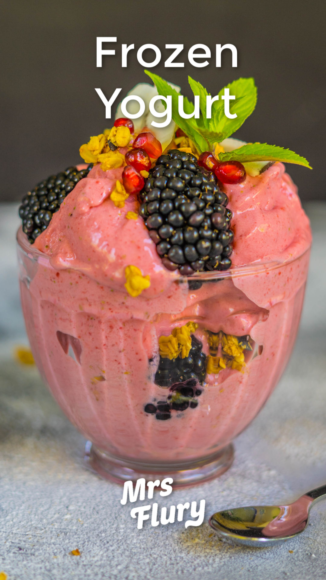 Frozen Yogurt Rezept vegan Mrs Flury