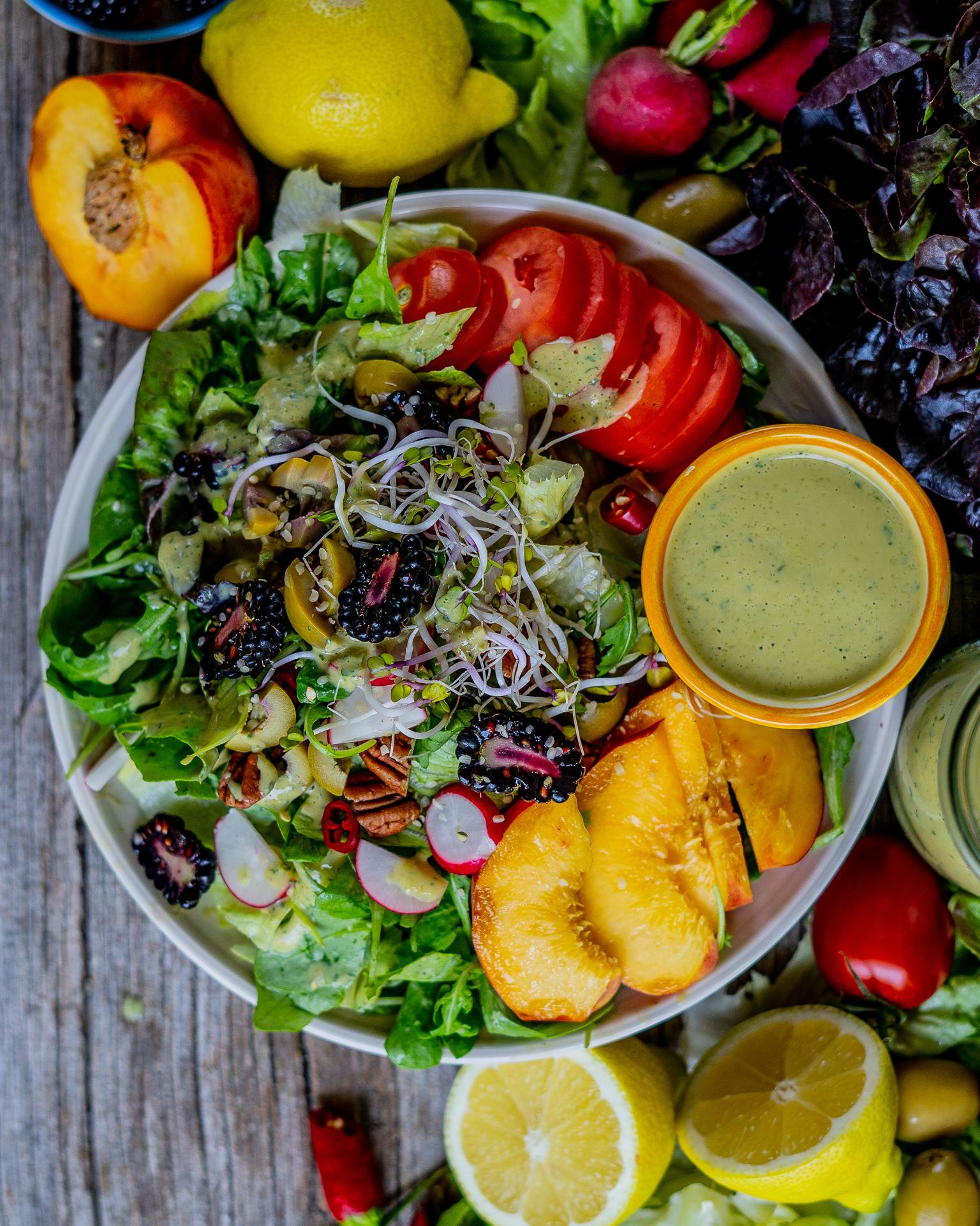 Gesunde Salatsauce vegan ohne Öl Mrs Flury
