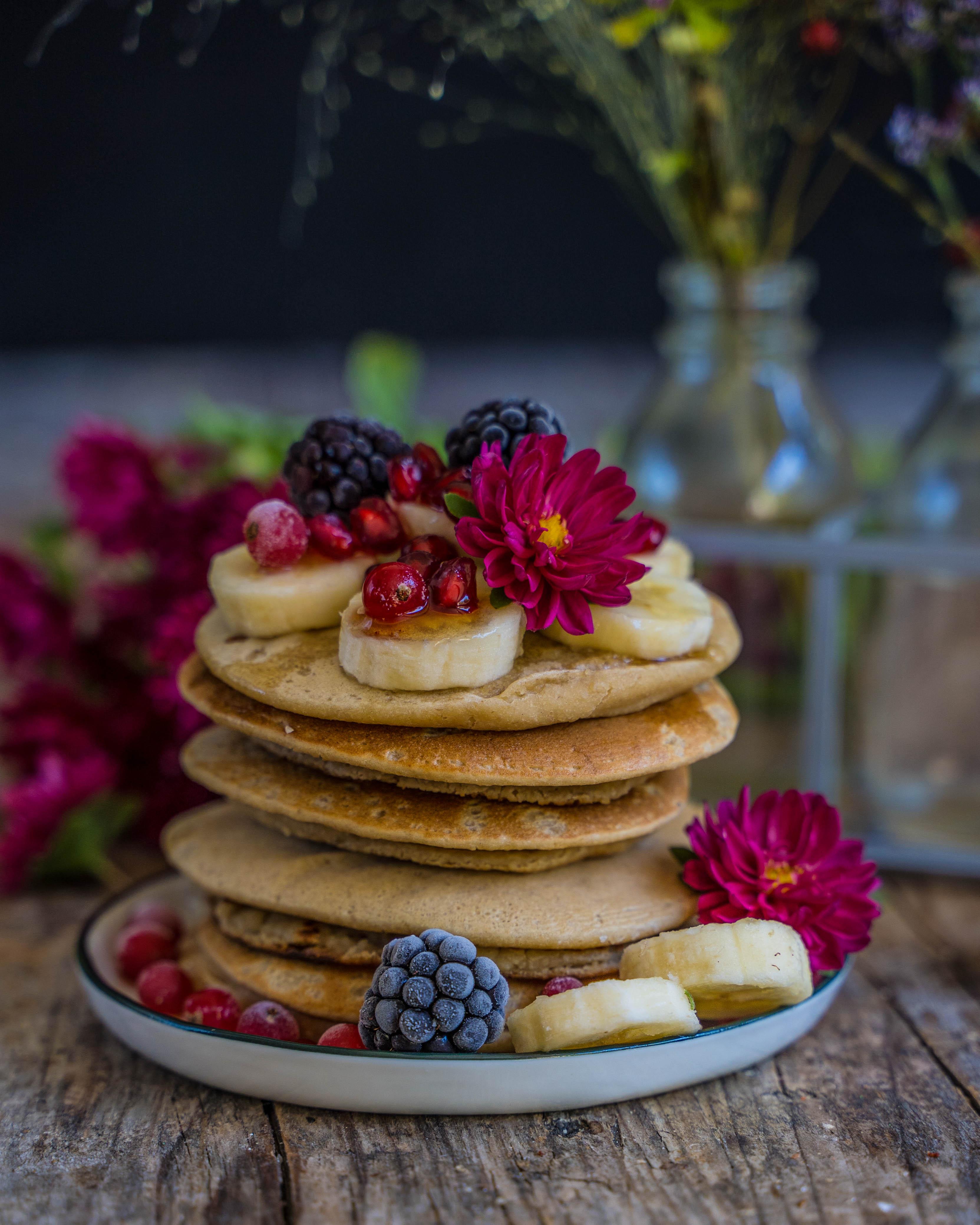 Protein Pancakes vegan - 4 Zutaten Rezept Mrs Flury