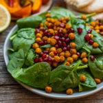 Spinat Kichererbsen Salat Mrs Flury