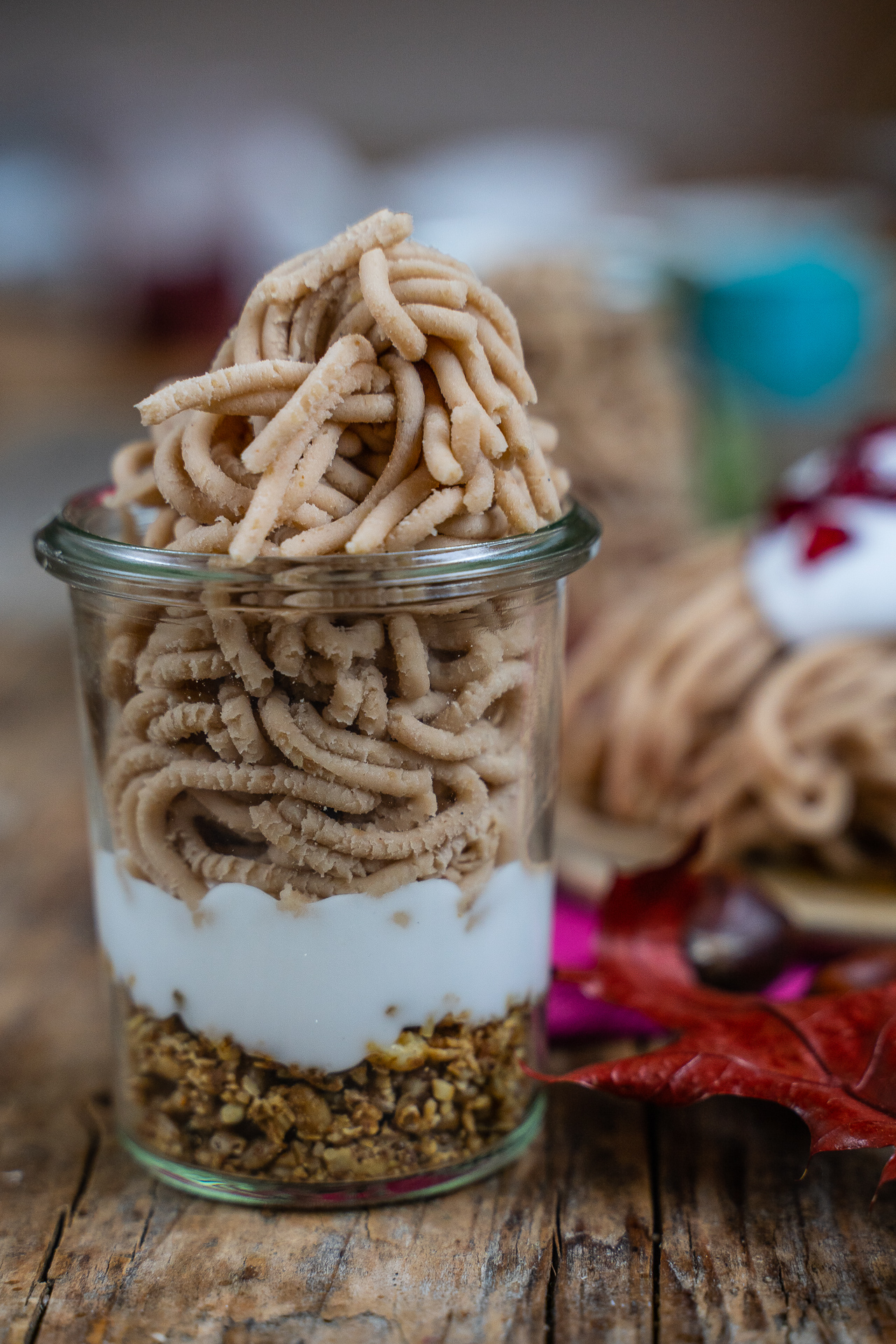 Marroni Püree - Selbst gemachtes Vermicelles vegan, ohne weissen Zucker