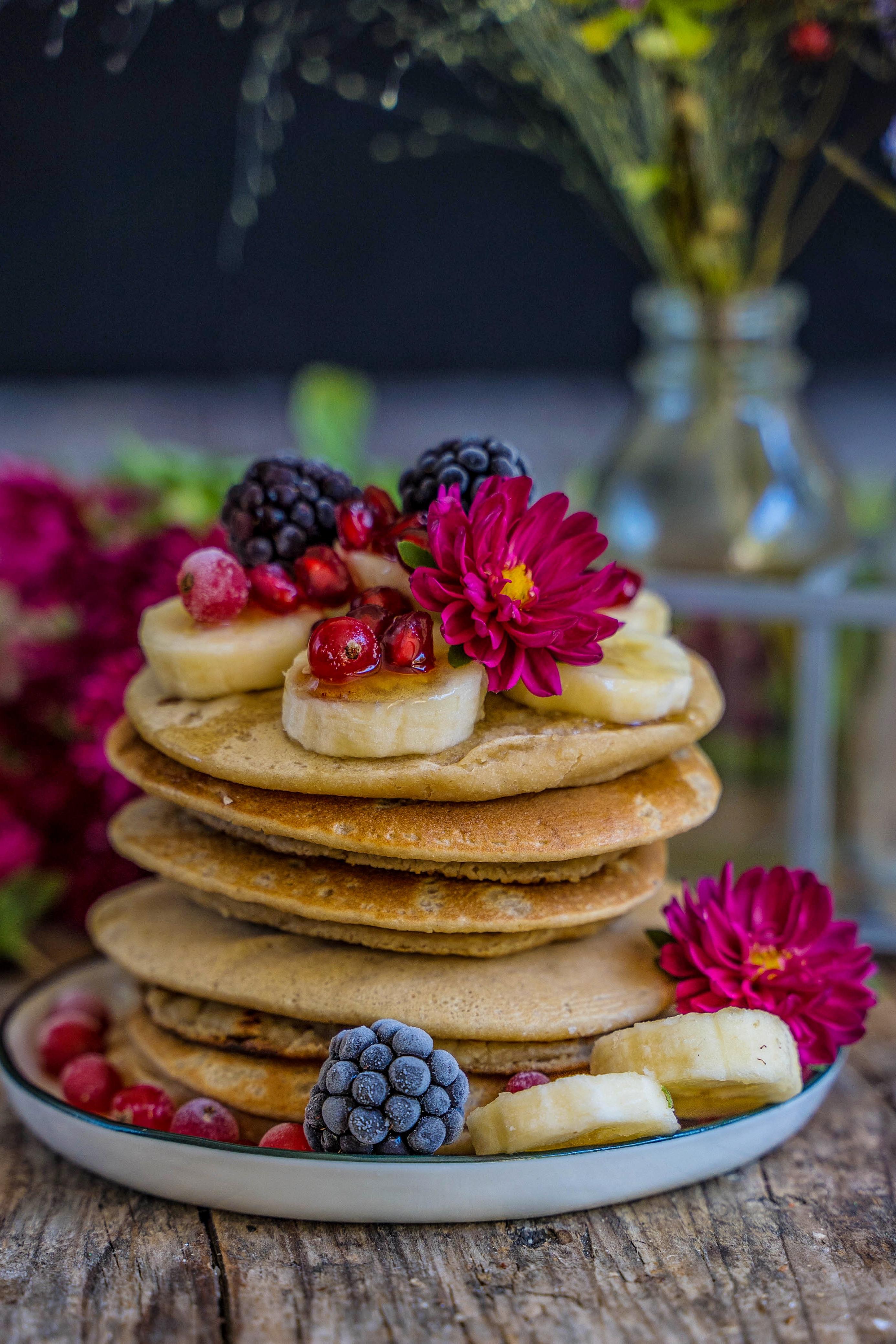 Gesunde Protein Pancakes - 4 Zutaten vegan Mrs Flury