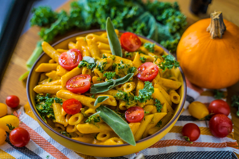 Kürbis Pasta vegan Rezept Mrs Flury