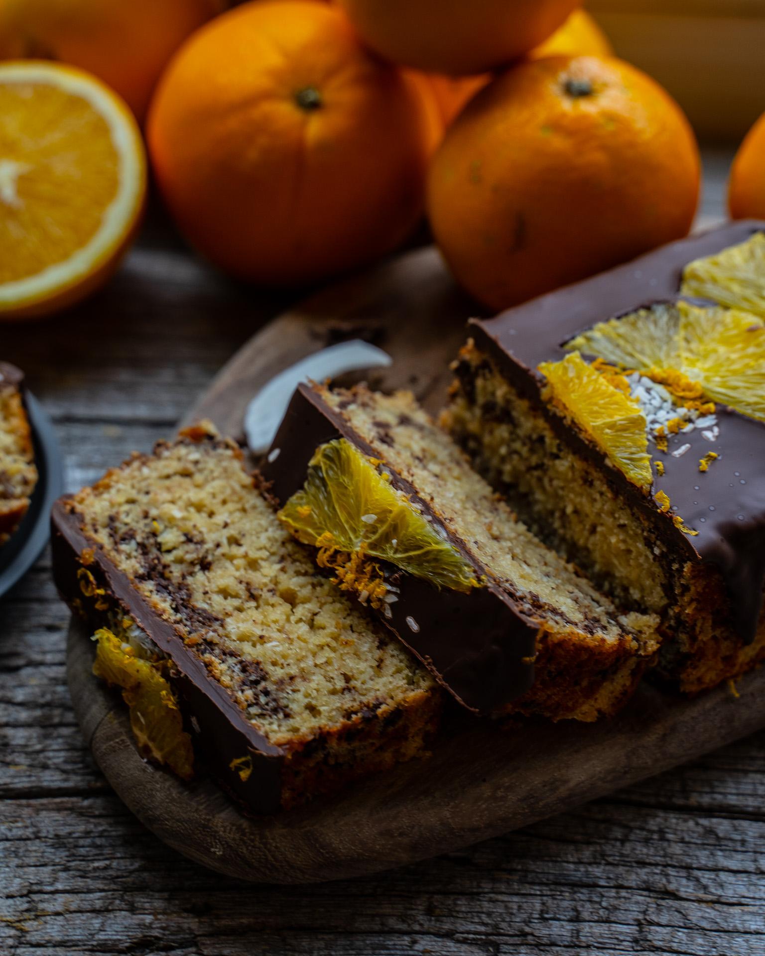Fair Cake - Orangen Kokos Kuchen vegan aus fairen Zutaten Mrs Flury