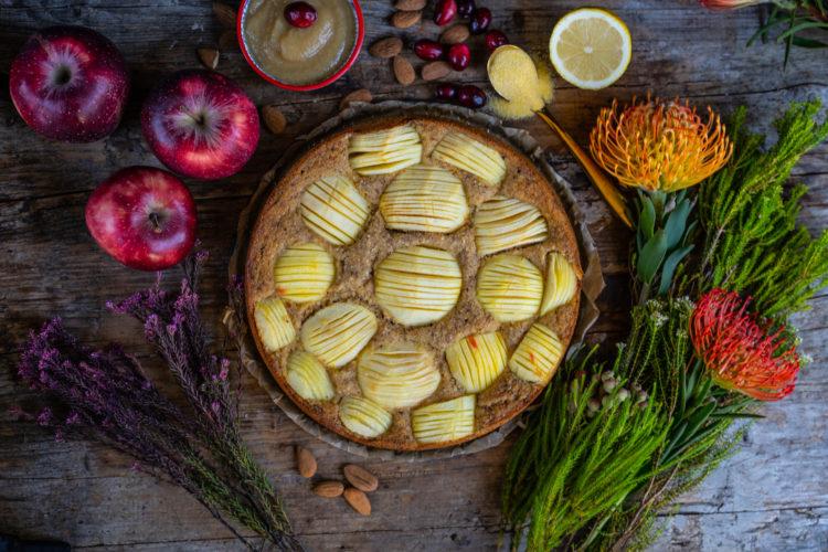 Apfelmus Polenta Kuchen vegan & glutenfrei