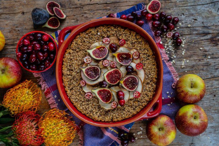 Apfel Protein Baked Oatmeal – gesunder Haferflocken Auflauf