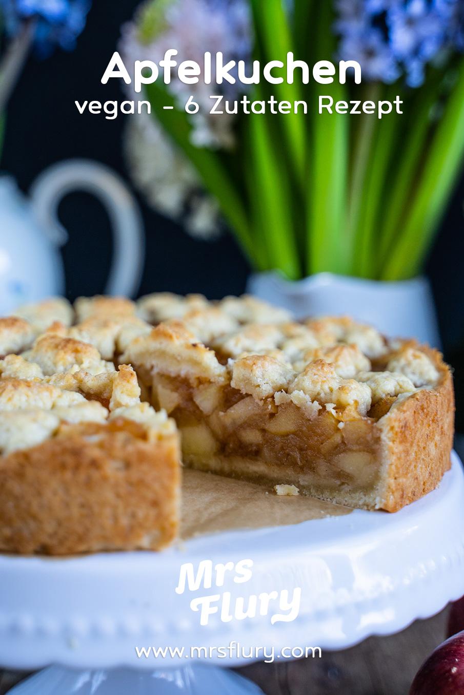 Veganer Apfel-Streusel-Kuchen Mrs Flury