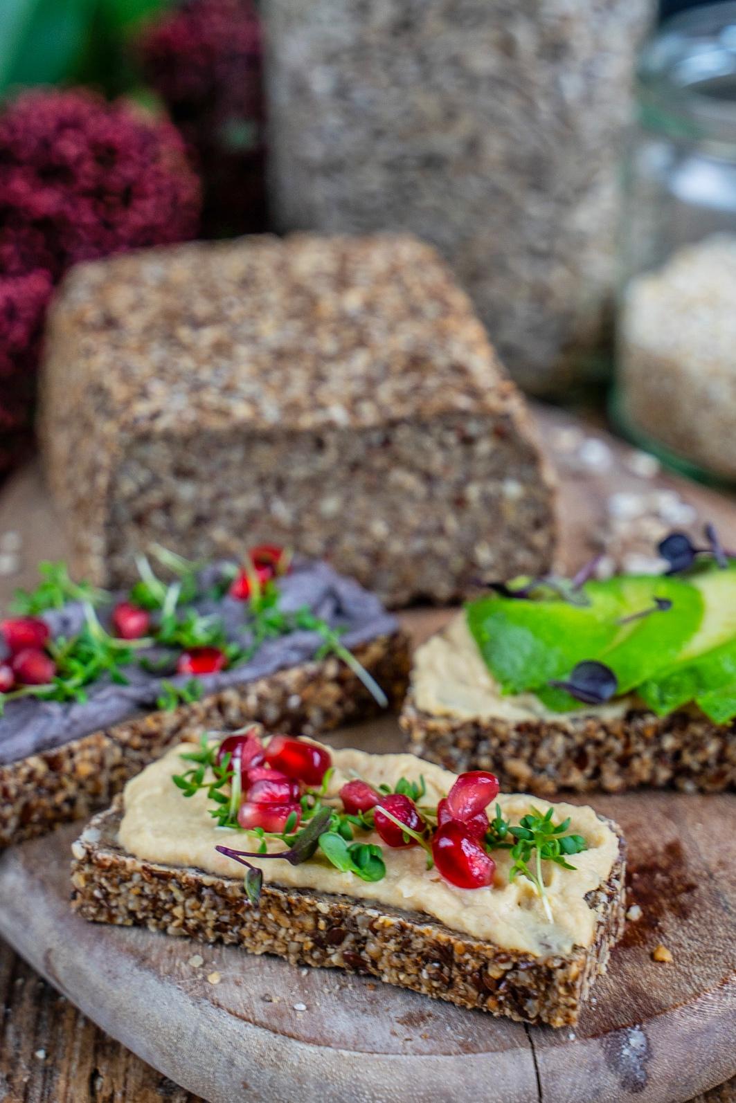 Glutenfreies Haferbrot, ohne Mehl, gut verträglich
