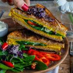 Rührei Sandwich vegan - gesunder Snack Mrs Flury