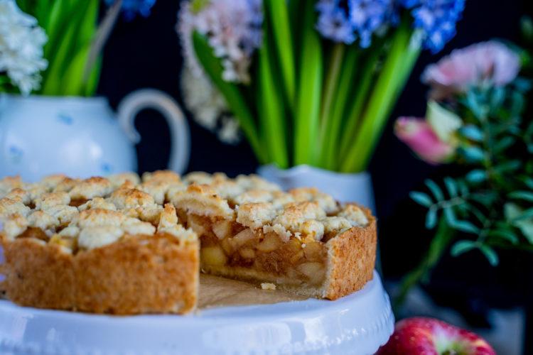 Apfel-Streusel-Kuchen vegan – 6 Zutaten Rezept