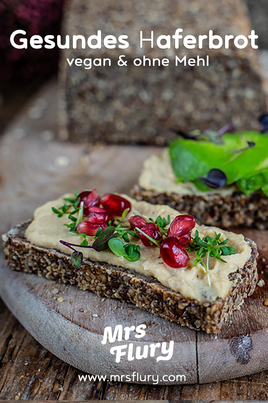 Glutenfreies Haferbrot - Gesundes Brot ohne Mehl Mrs Flury Rezept