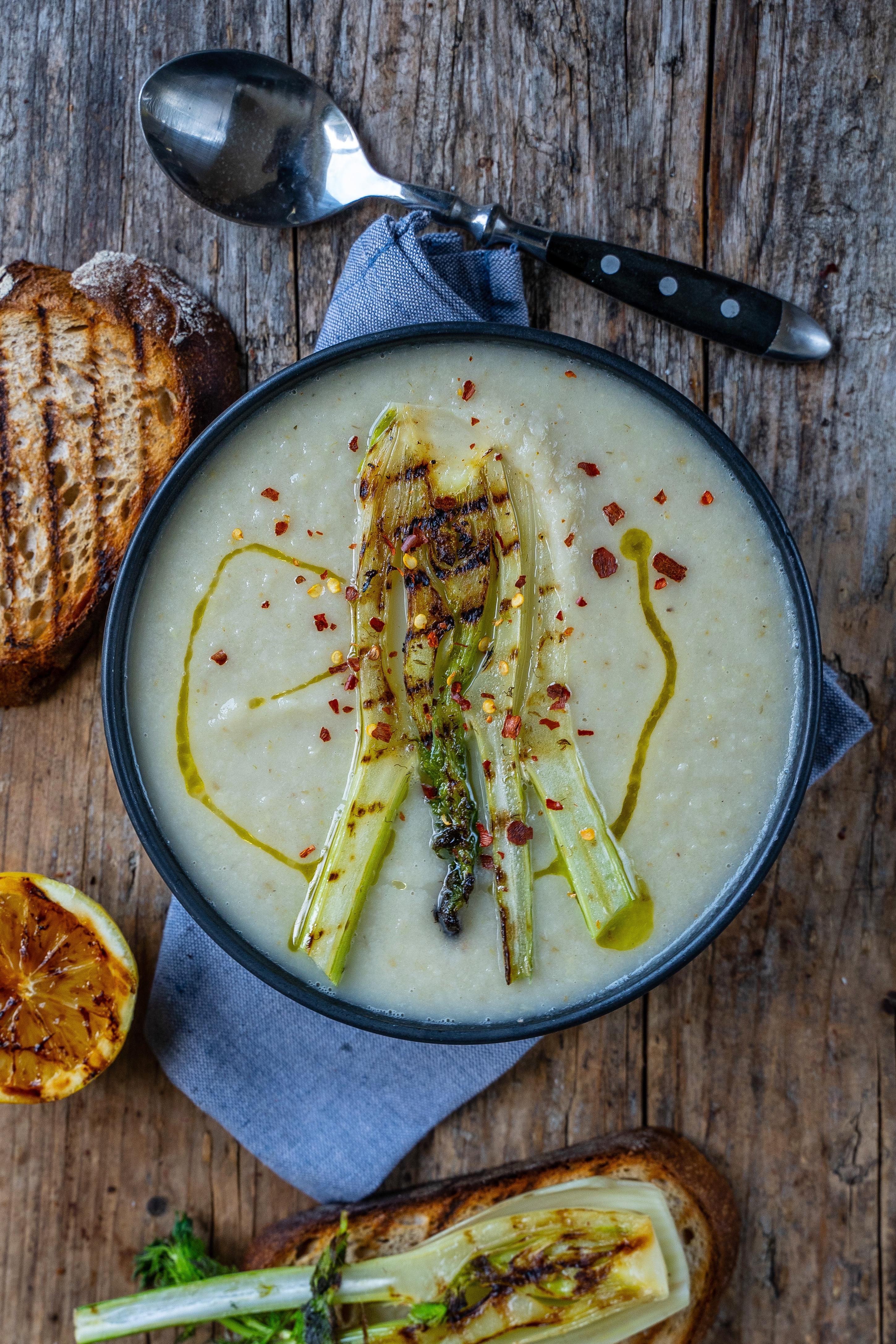 Gesunde Fenchel Birnen Suppe basisch, vegan Mrs Flury Rezept