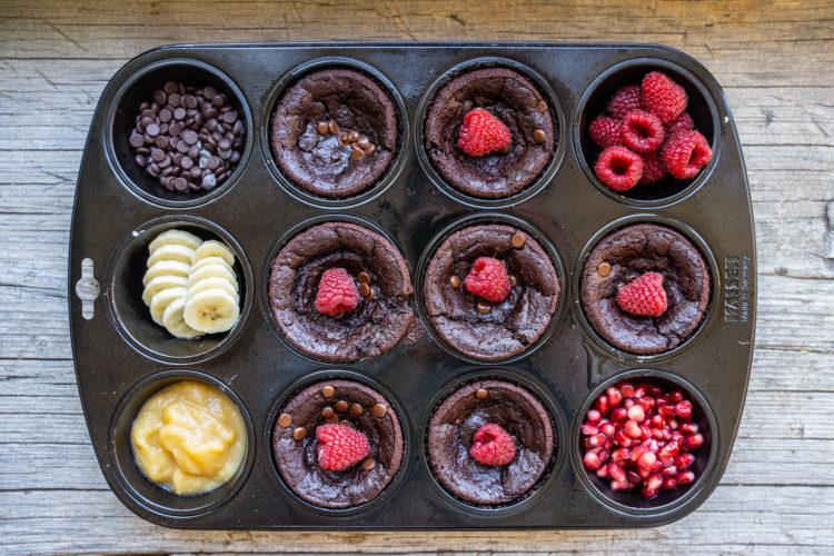 Schokoladen Muffins: Super saftig, ohne Zucker, ohne Mehl, vegan