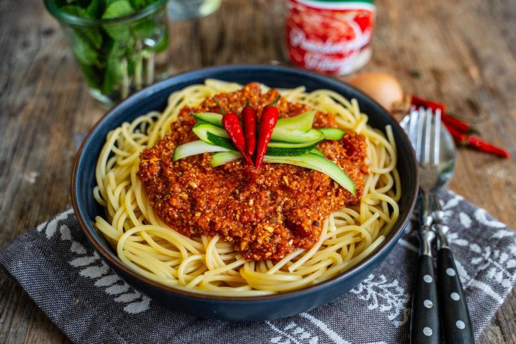 Pilz Bolognese Sauce – Veganes Rezept