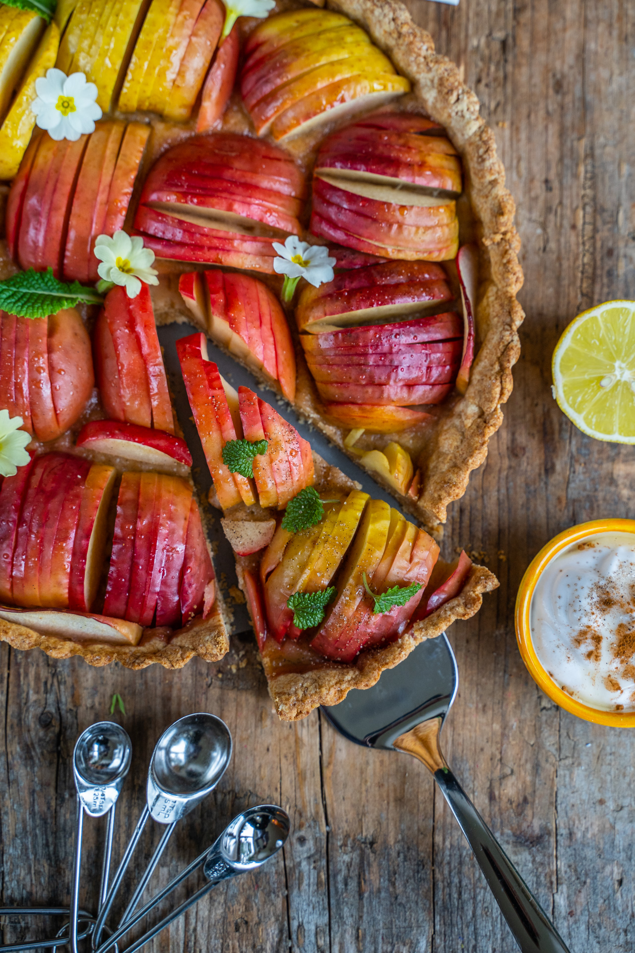 Gesunde Apfel-Tarte vegan Rezept Mrs Flury