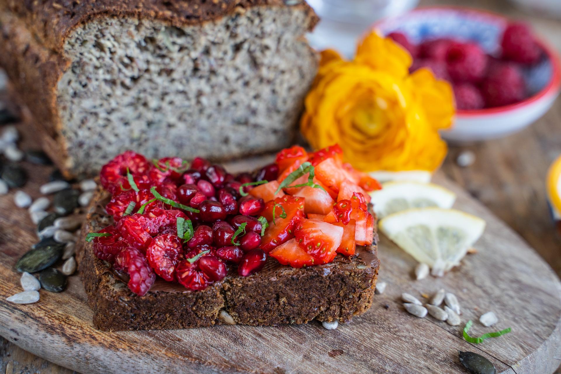 Low Carb Proteinbrot Rezept vegan Mrs Flury