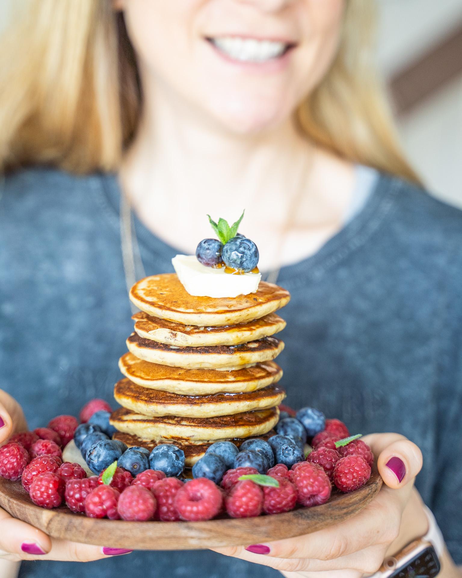 Protein Pancakes vegan gluten-frei fluffig