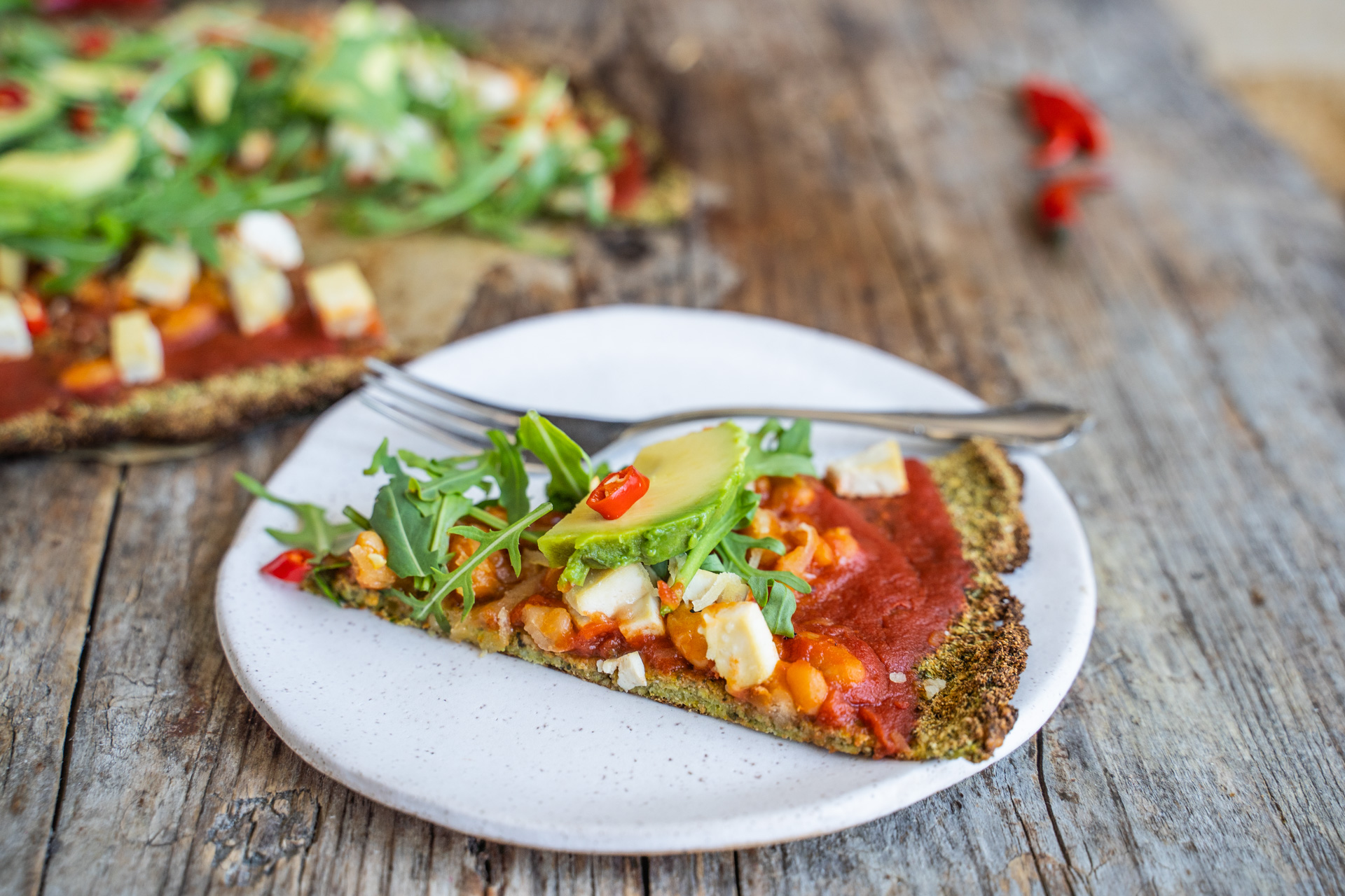 Brokkoli Pizza Boden vegan glutenfrei low carb Mrs Flury