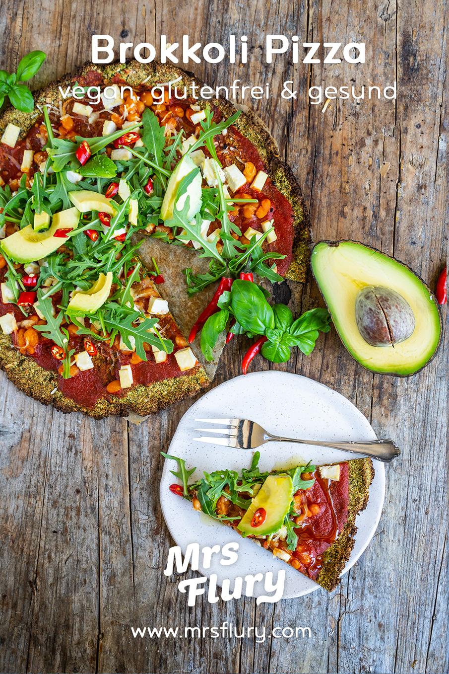Low Carb Brokkoli Pizza vegan & glutenfrei Rezept Mrs Flury