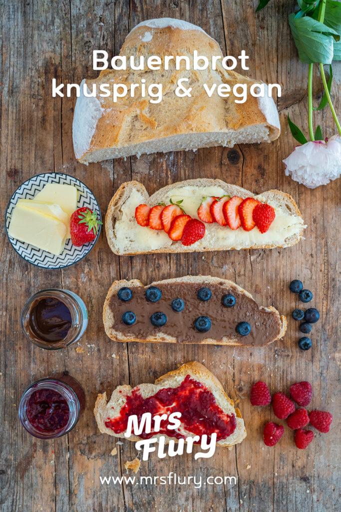 Knuspriges Bauernbrot / Hausbrot backen Rezept Mrs Flury