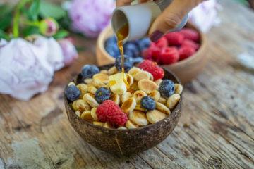 Pancake Cereal Rezept gesund und vegan Mrs Flury