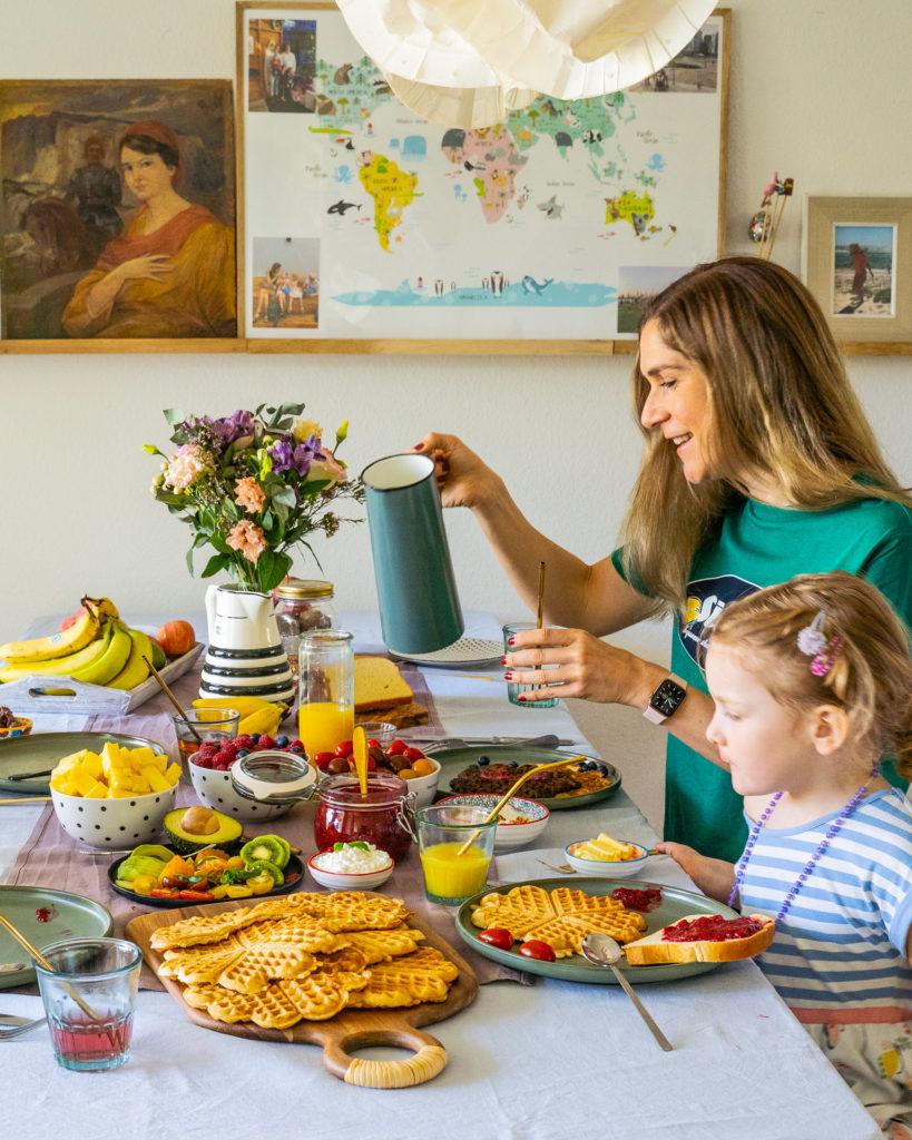 Gesunde Waffeln und Chia Marmelade selber machen Mrs Flury