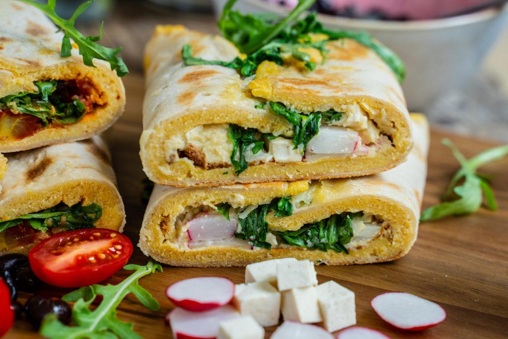Protein Wrap vegan mit Kichererbsen Rührei - Mrs Flury