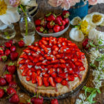 Erdbeer Pudding Kuchen gesund & vegan backen Mrs Flury