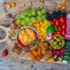 Gesundes Snack Board vegan - Snackplatte Mrs Flury