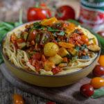 Gesunde Sommerpasta vegan & proteinreich Mrs Flury