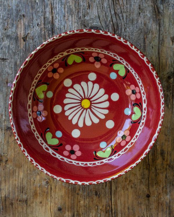 Mrs Flury Schüssel Blume rot