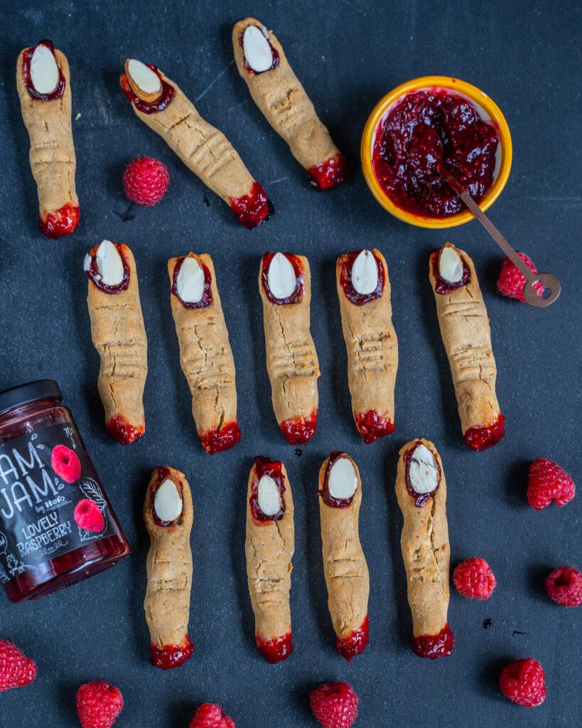 Halloween Hexenfinger Kekse - vegan & glutenfrei Mrs Flury
