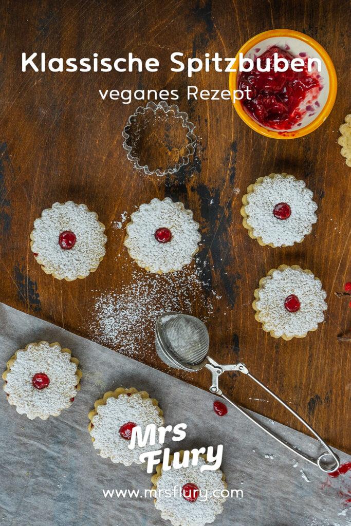 Spitzbuben - Vegane Linzer Kekse Rezept Mrs Flury