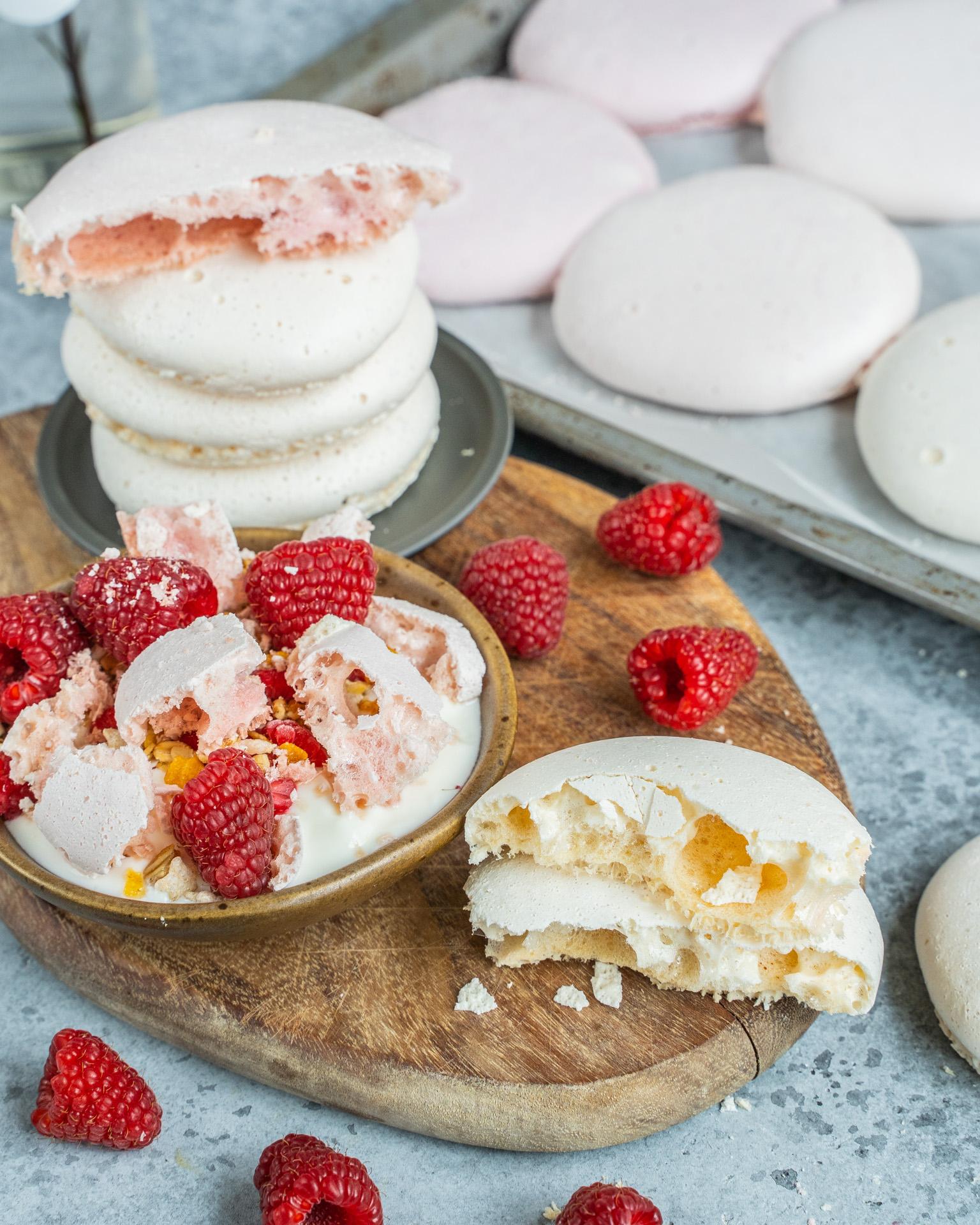nutella swirled meringues cookies