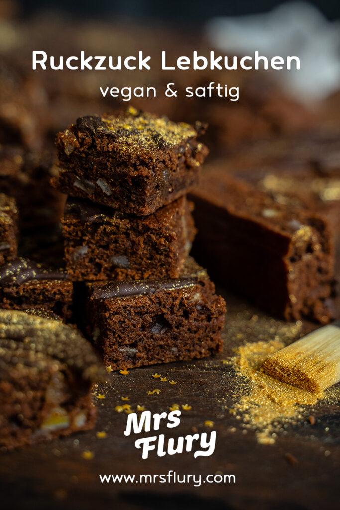 Ruckzuck Lebkuchen vom Blech vegan Mrs Flury