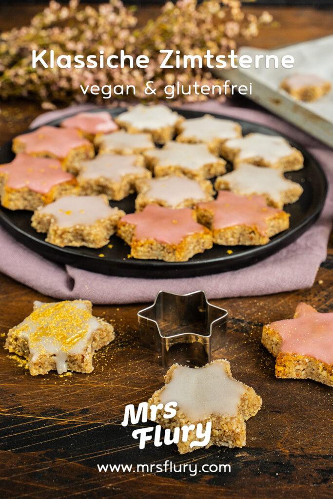 Vegane Zimtsterne glutenfrei backen Mrs Flury